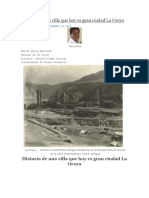 Historia de Una Villa Que Hoy Es Gran Ciudad La Oroya