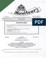 Decret Portant Raficification de l Accord USA Haiti Sur La Drogue