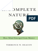 Incomplete Nature - Terrence W. Deacon