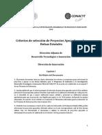 Criterios de Seleccion de Proyectos Bolsas Estatales 2016 Def