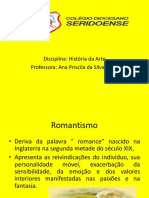 Romantismo - Professora Ana Priscila
