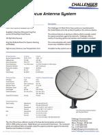 Challenger Communications 4.5m Prime-Focus Earth Station Antenna Data Sheet