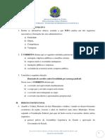 Agu 2015 Pfe Inss Estagiario de Direito Prova