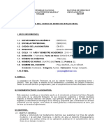 Silabo Derecho Financiero 2016-II