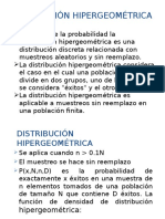 DISTRIBUCION HIPERGEOMETRICO PPTX