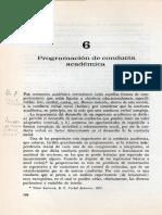 programación de conducta academica