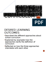Chapter 1 Module 2 Lesson 2 Approaches About School Curriculum