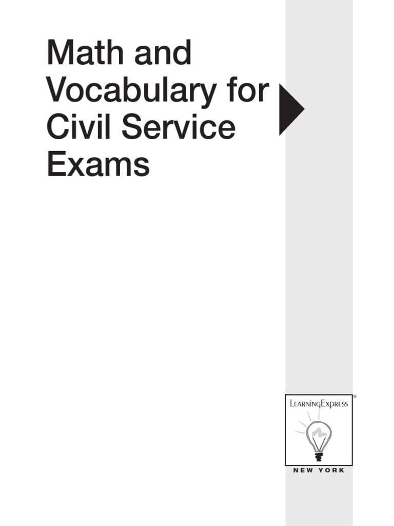 66209961-Math-and-Vocabulary-for-Civil-Service-Exams.pdf | Employee  Benefits | Test (Assessment)