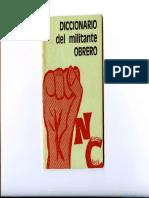 Diccionario Del Militante Obrero