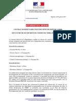CRSC - Signature décrets de cession de terrains militaires