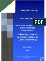 Guía Médico Legal de Valoración Integral de Lesiones Corporales. 2016. Versión 02