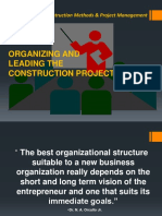 Lecture 6a-Organizing and Leading the Construction Project