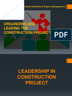 Lecture 6b-Organizing and Leading the Construction Project