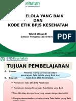 Materi Diklat Capeg Tata Kelola Yang Baik Dan Kode Etik BPJS Kesehatan