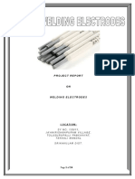 PROJECT REPORT ON WELDING ELECTRODES