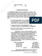 Counter-Affidavit of Emma Galang (Draft)