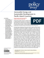 Renewable Energy and Sustainable Development in Pacific Island Countries