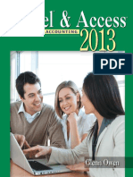 Using Microsoft Excel and Access 2013 for Accounting - Owen, Glenn [SRG]