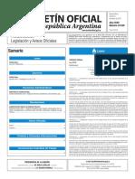 Boletín Oficial de la República Argentina del 6 de enero de 2017