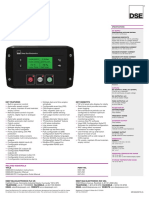 DSE E400 Data Sheet Control