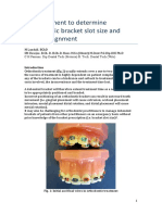 An Instrument to Determine Orthodontic Bracket Slot Size and Bracket Alignment