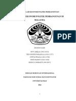 Makalah Ekonomi Politik Pembangunan (Revisi)