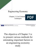 MSE604 Ch. 3 - Cost Estimation Techniques