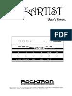 Rocktron Taboo Artist Manuel Utilisateur en 41115