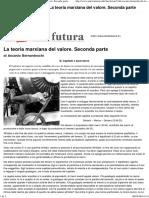 Ascanio Bernardeschi_ La Teoria Marxiana Del Valore. Seconda Parte