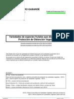Listado Protecciones TOV 2010 3