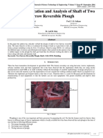 Design, Modification and Analysis of Shaft of Two Furrow Reversible Plough