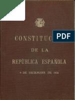 Constitución de la  2ª República Española (1931)