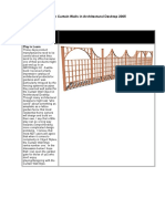 Garden Fencing With Curtain Walls in Architectural Desktop 2005