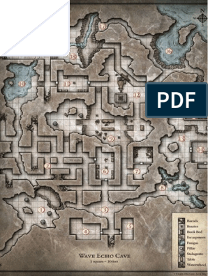 image regarding Redbrand Hideout Map Printable identified as Wave Echo Cave
