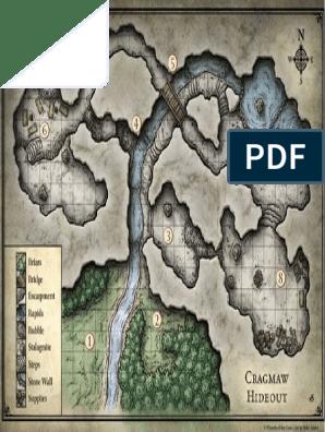 graphic regarding Redbrand Hideout Map Printable called Cragmaw Hideout Map Pdf