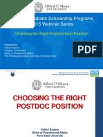 Choosing the Right Postdoc