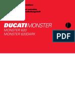 Libretto Uso e Manutenzione Ducati Monster 620