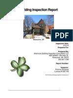 Shamrock Residential Inspection Sample Report