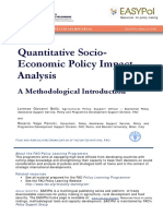Quantitative Socio-Economic Policy Impact Analysis