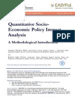 Quantitative Socio-Economic Policy Impact Analysis