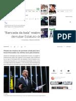 _Bancada Da Bala_ Reabre Comissão Para Tentar Derrubar Estatuto Do Desarmamento - Brasil - IG