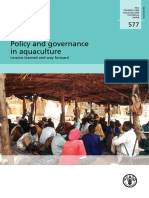 Policy and governance in aquaculture
