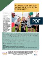 Deaf Sports Clubs Spring Dates