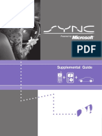 SYNC powered by Microsoft - Supplemental Guide