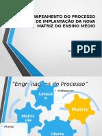 MAPEAMENTO PROCESSO DE IMPLANTAÇÃO DA NOVA MATRIZ.pptx