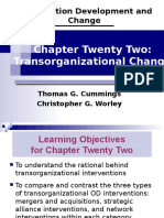 Organization Development and Change Thomas G. Cummings Christopher G. Worley Chapter Twenty Two- Transorganizational Change.