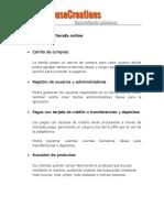 Características Tienda Online
