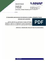 ANAF Termen Obligatii Fiscale