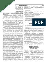 Decreto Legislativo que crea el Fondo de Adelanto Social