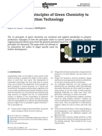 Applying the Principles of Green Chemistry ToPolymer Production Technology